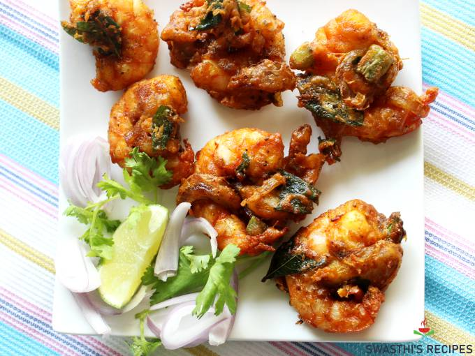 shrimp pakora fritters
