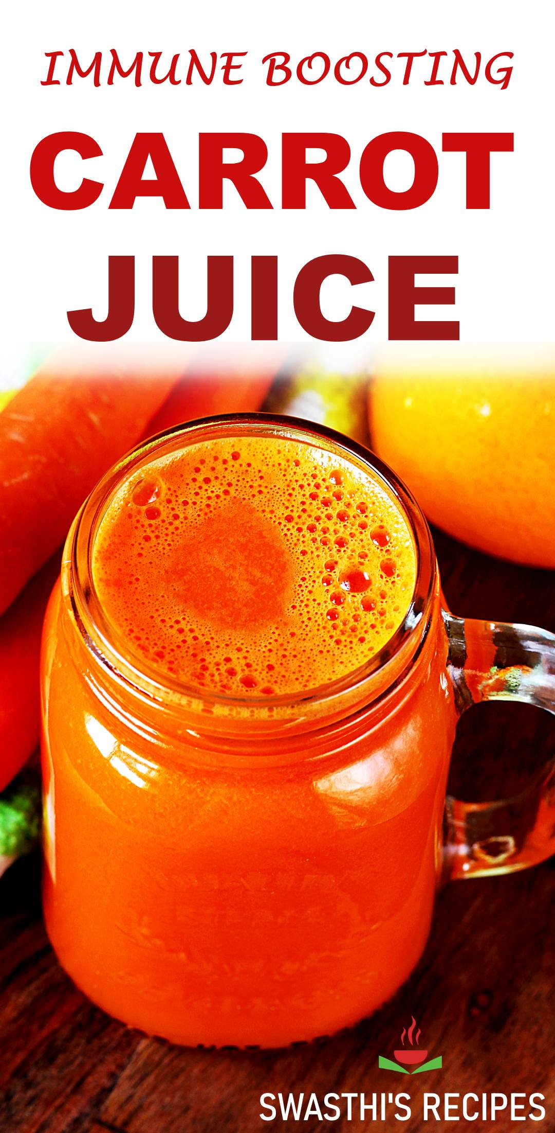 Carrot juice recipe (in blender & juicer)