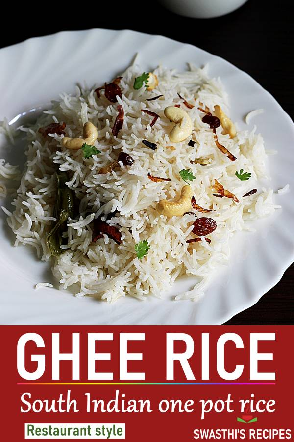 Ghee rice recipe (Stovetop & Instant pot)