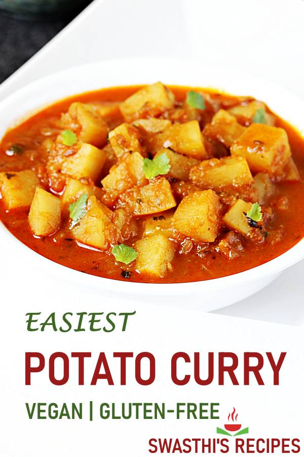 Potato curry recipe | Aloo curry (stovetop & instant pot)