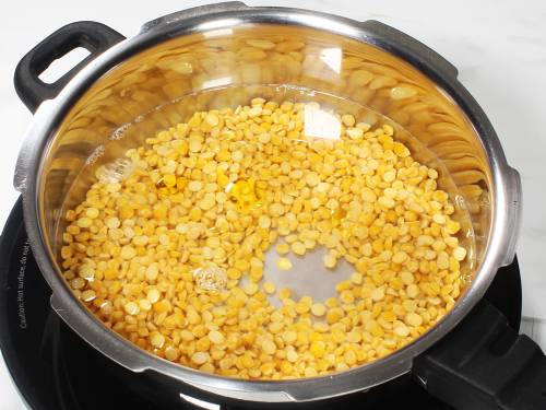 chana dal in a cooker