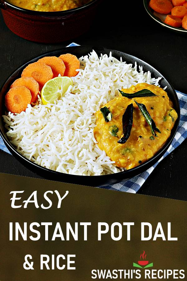 Instant pot dal & rice with video
