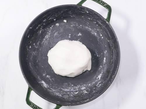 kneading dough to smooth texture for modak