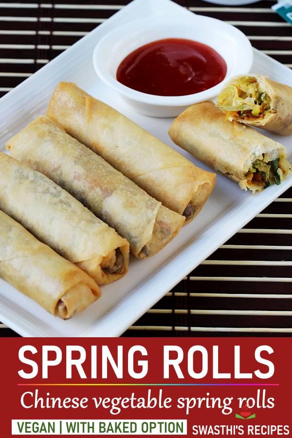 Spring rolls recipe | How to make veg spring rolls