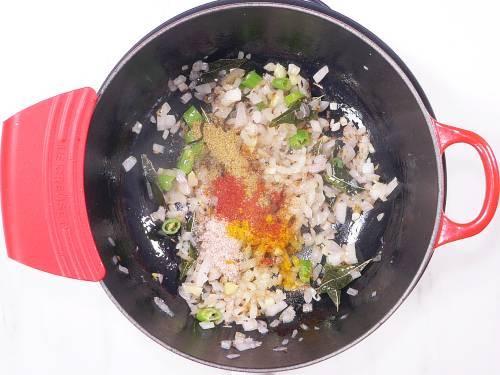 adding spice powders