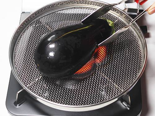 roasting eggplants on direct fire on stovetop