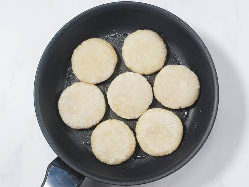 frying patties in pan