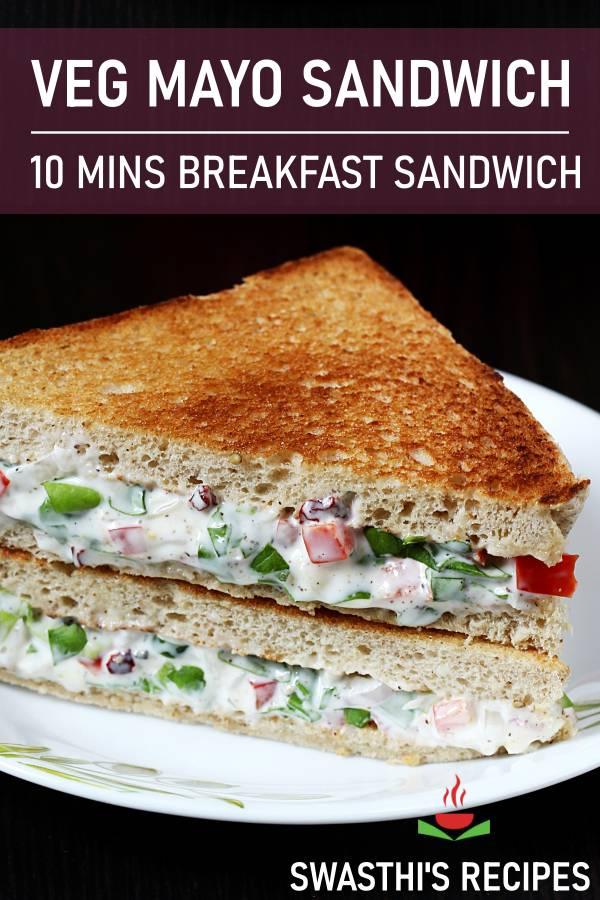 Mayonnaise sandwich | How to make veg mayo sandwich