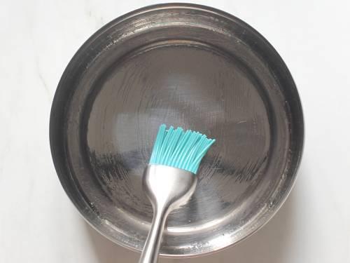 greasing cake tin or box