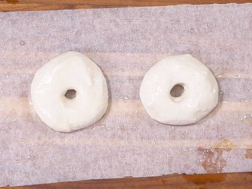 shaping vadas on a greased parchment paper