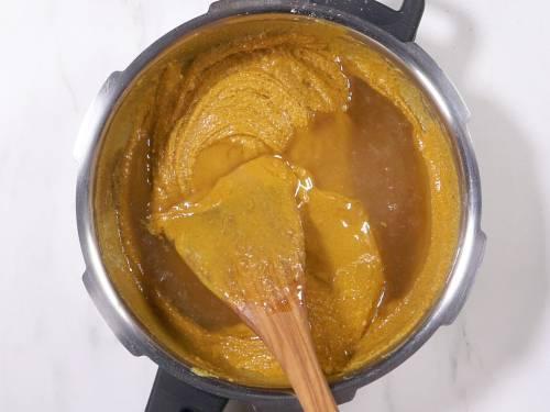 add sugar syrup in batches
