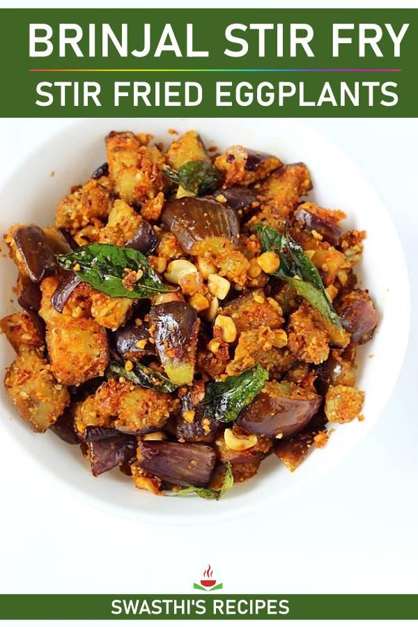 Brinjal fry (Andhra style vankaya fry)
