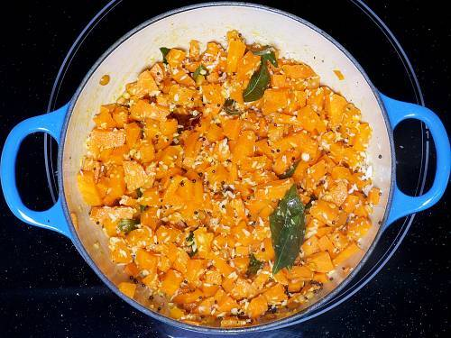 stir fried South Indian style carrots