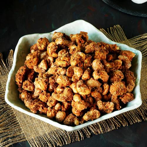 masala roasted cashews for diwali