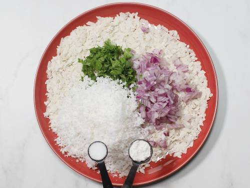 add onions coconut salt and sugar