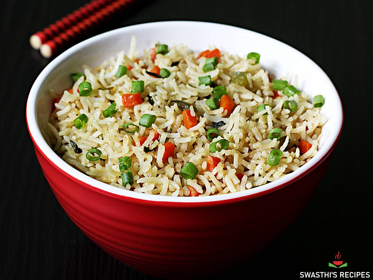 Veg Fried Rice Recipe How To Make Fried Rice Swasthi S Recipes