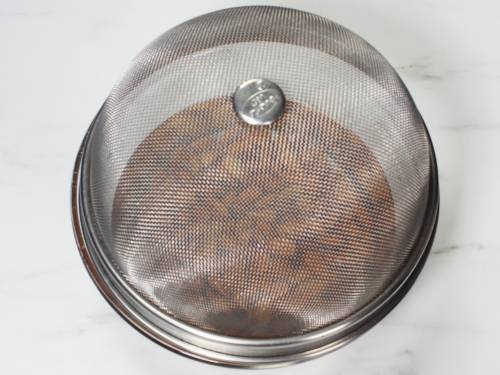 cover the almonds with a mess basket