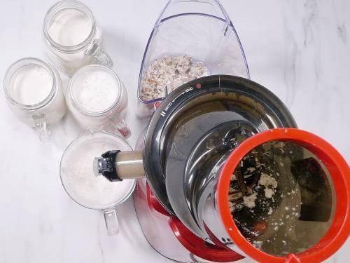 almond milk in slow juicer