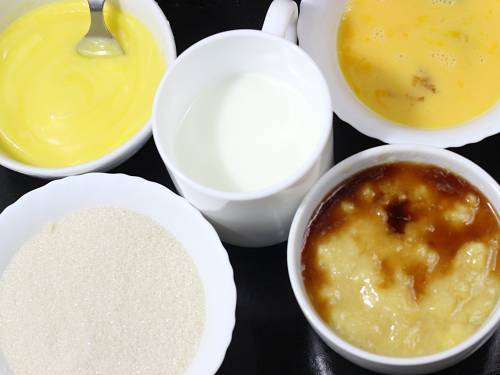 wet ingredients at room temperature