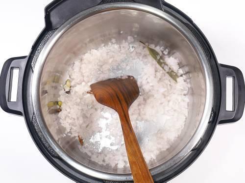 sautéing onions for chole recipe