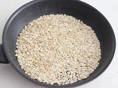 roasting oats for pongal