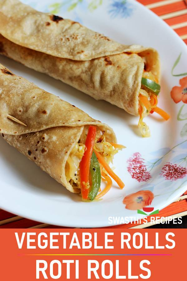Veg roll recipe (roti rolls)