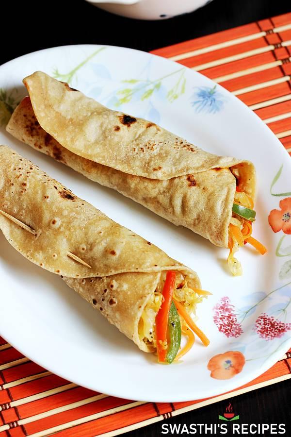 veg rolls chapati rolls