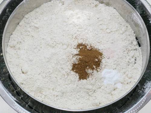 dry ingredients for eggless banana bread