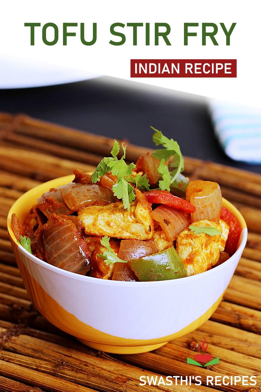 Indian Tofu stir fry
