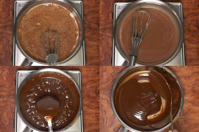 chocolate sauce frosting