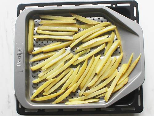 spread on a tray