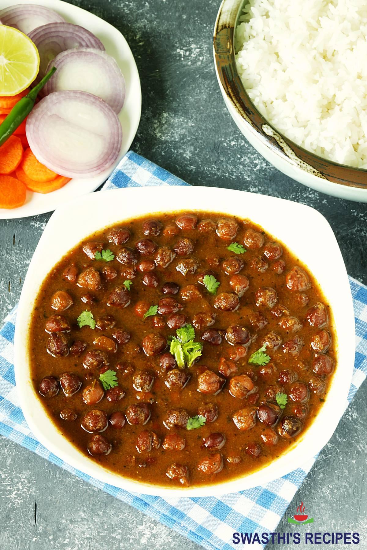 kala chana or black chickpea curry