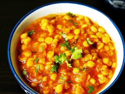 chana dal cooked with spices and herbs