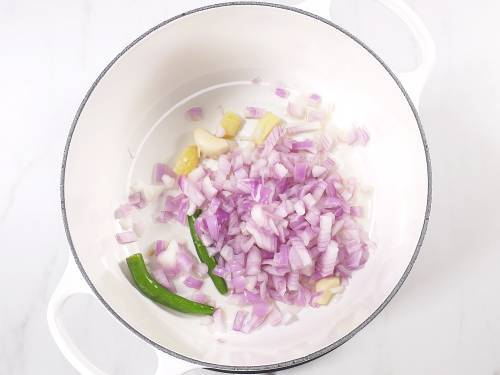 saute onions chilies and garlic