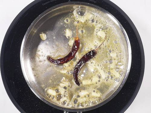 tempering spices in ghee