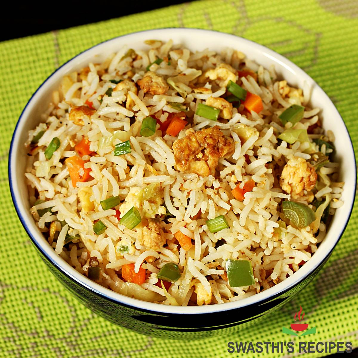 egg fried rice made in Chinese style