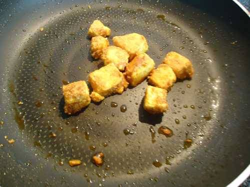 pan fried paneer for fried rice