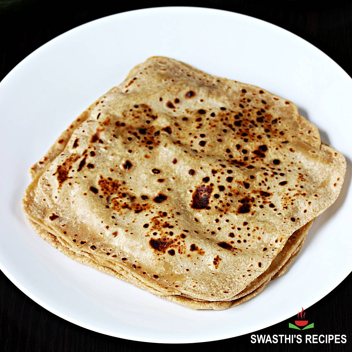 paratha recipe with whole wheat flour, salt and water