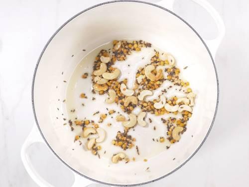 frying cashews