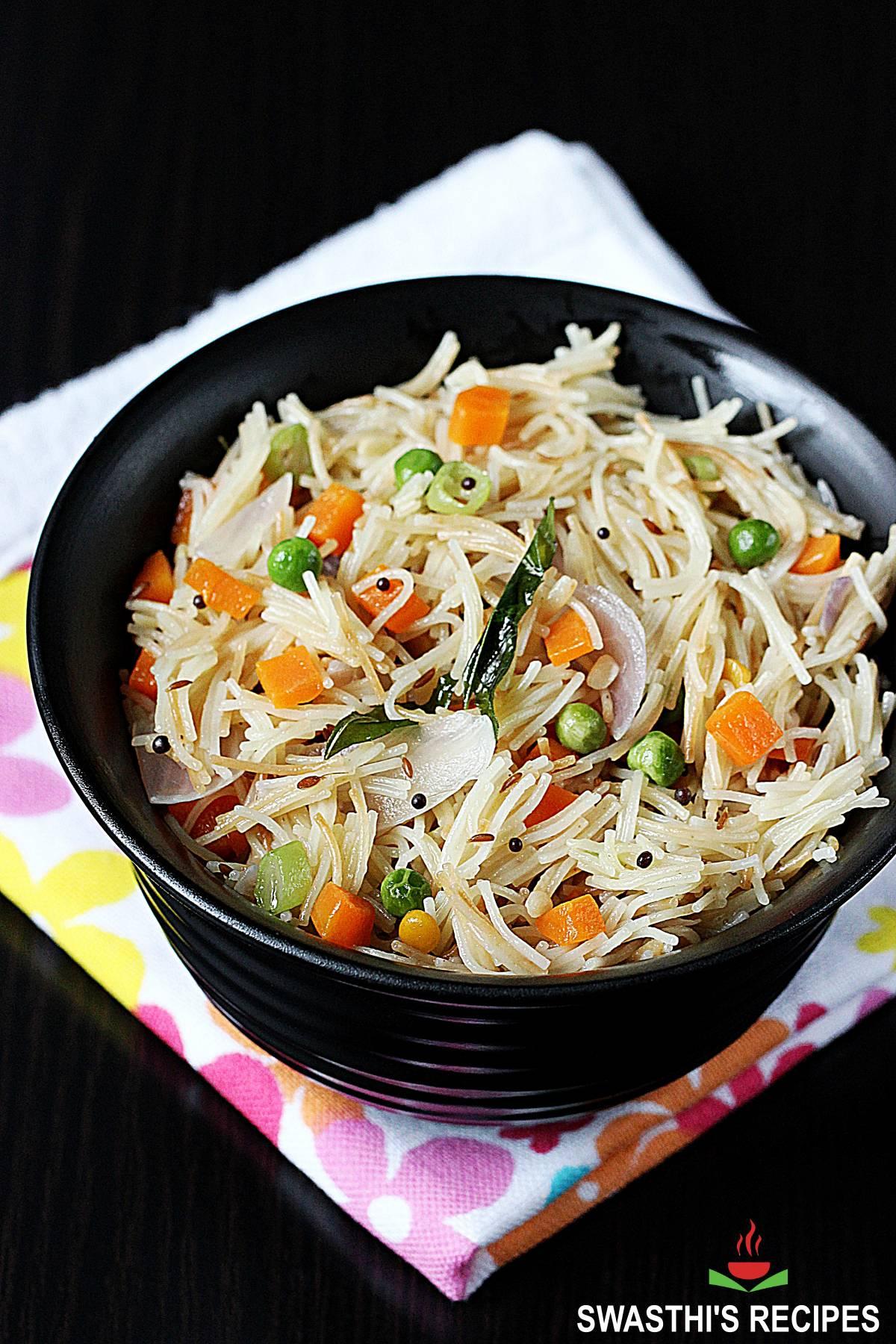 semiya upma with vegetables