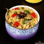 capsicum rice recipe made with bell peppers