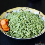 palak rice also known as spinach rice made on the stovetop & instant pot