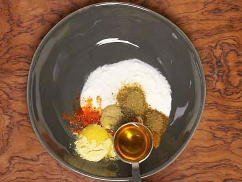 gram flour and mustard oil