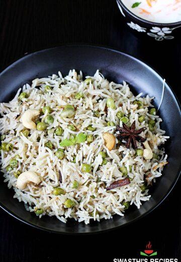 peas pulao also known as matar pulao