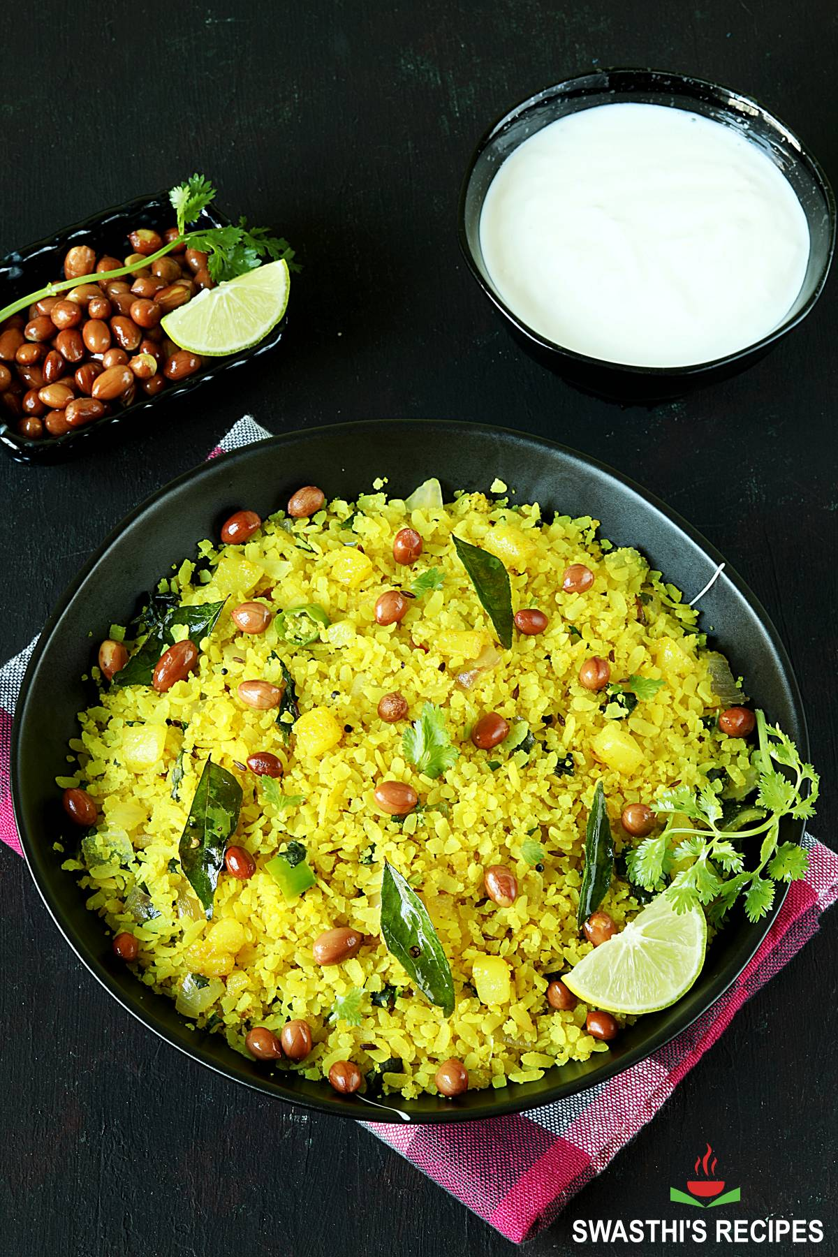 poha recipe made with flattened rice, spices and herbs