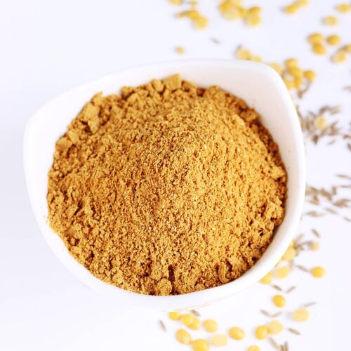 rasam powder made with spices and lentils