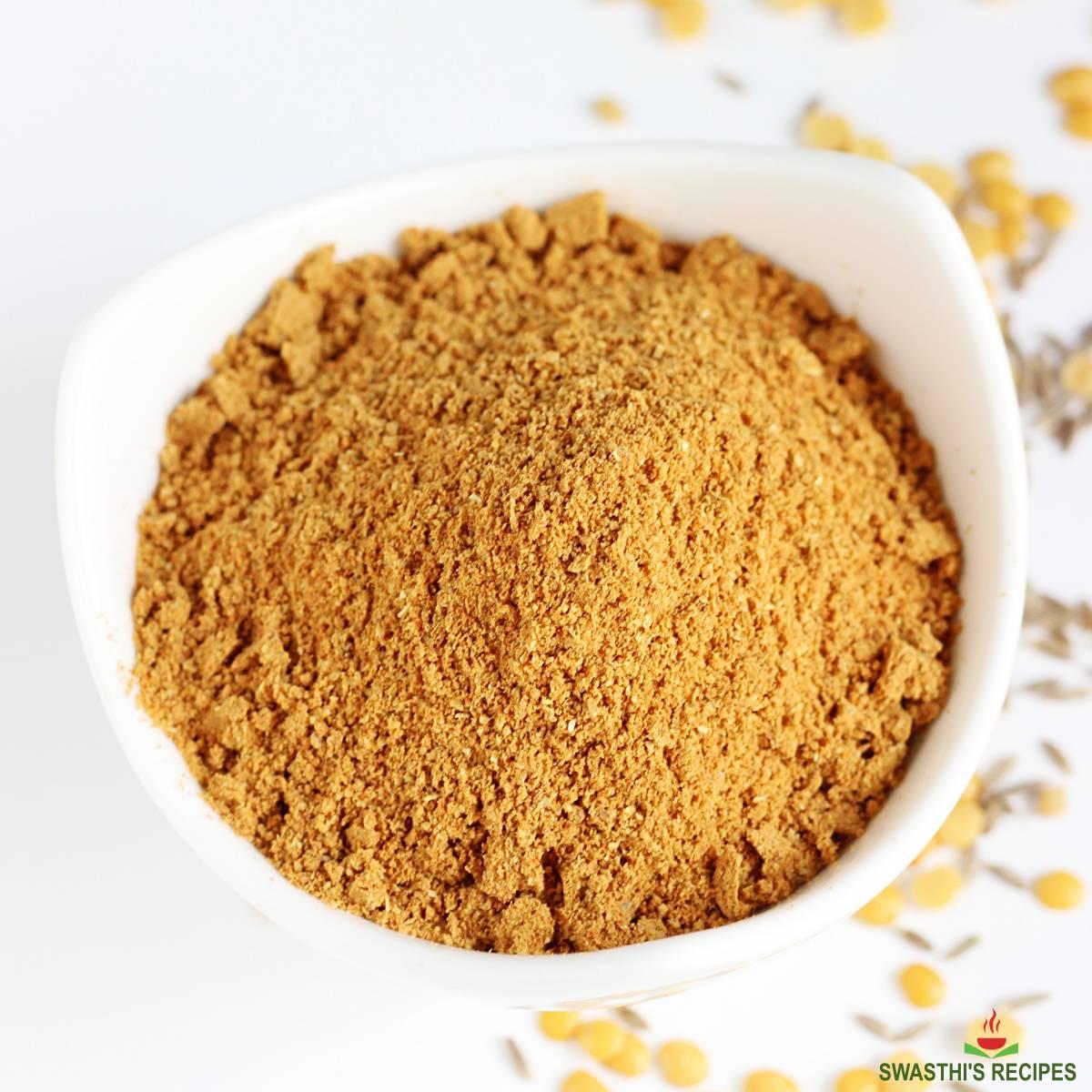 rasam powder in a bowl