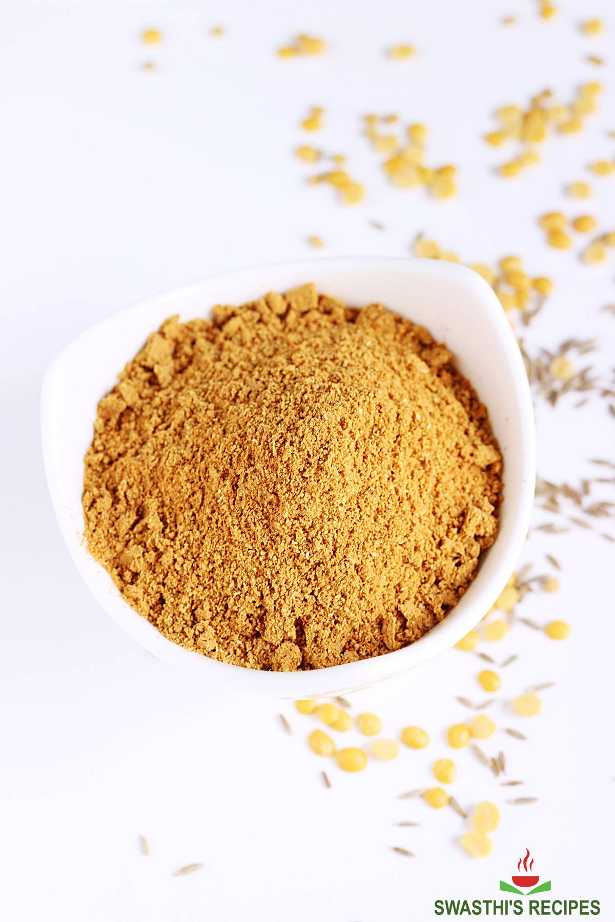 rasam powder made with lentils and spices