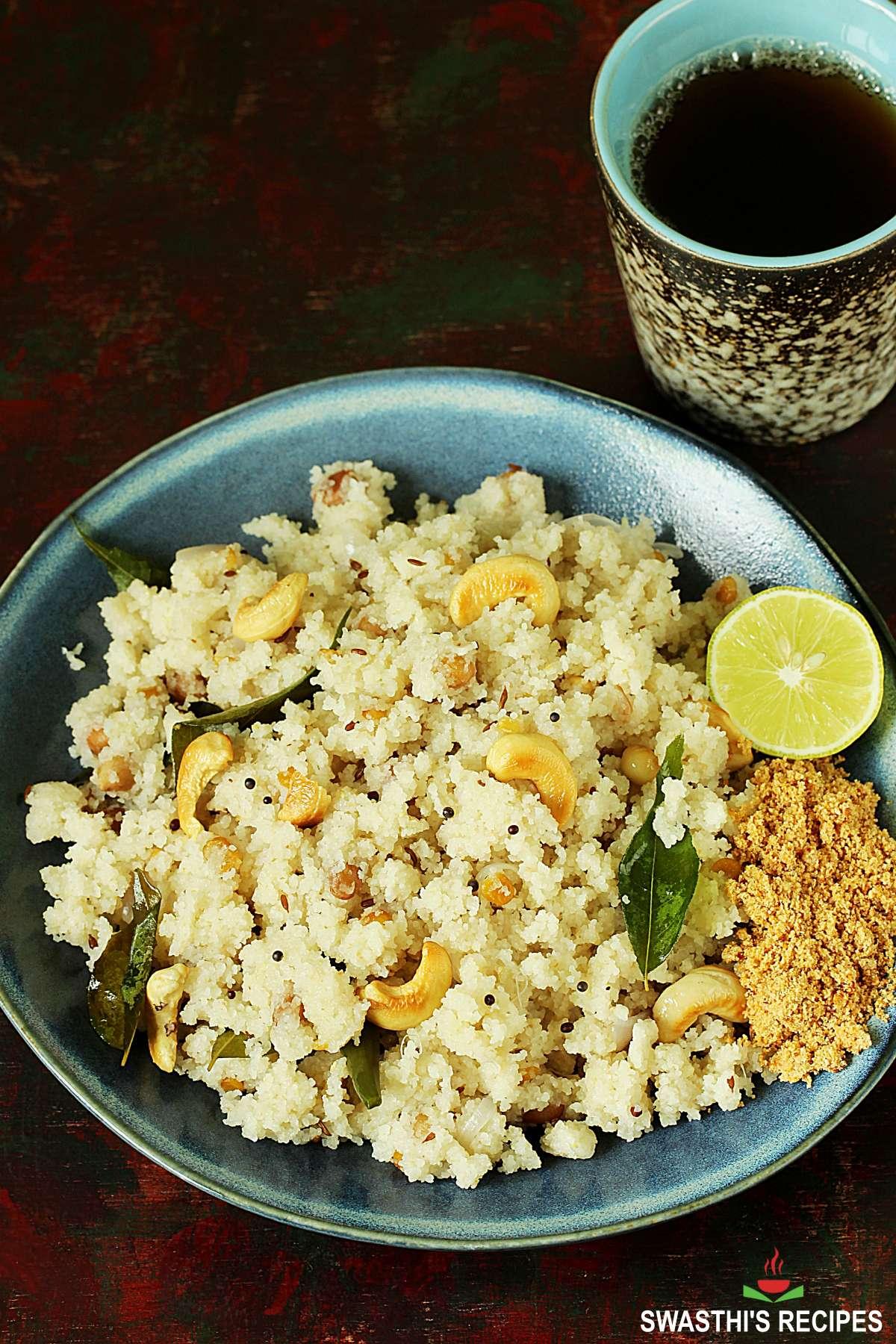 rava upma recipe made with semolina