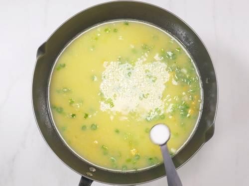 season soup with salt and sugar